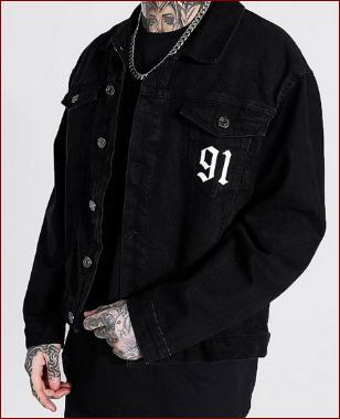 oversized death row license denim jacket