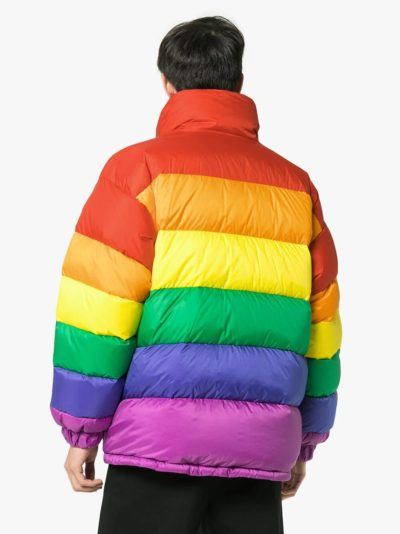 rainbow feather down jacket