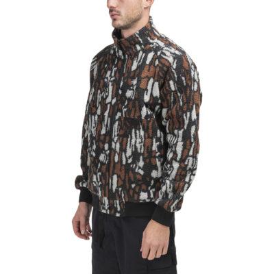 tree bark camo letterman varsity jacket