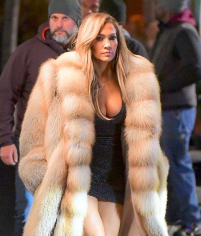 Jennifer Lopez Fur Coat