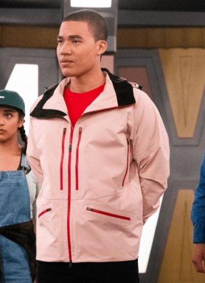 Power Rangers Dino Fury Russell Curry Red Dino Fury Ranger Jacket