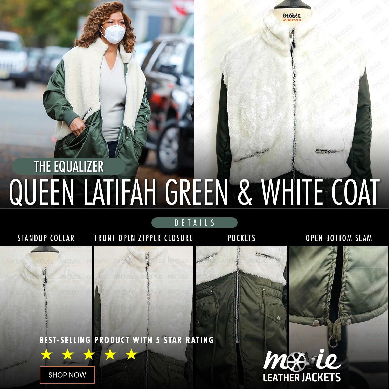 Queen Latifah Checked Coat
