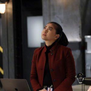The Blacklist Season 8 Alina Tan Maroon Coat