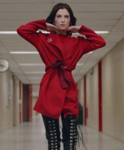 bonding zoe levin red coat