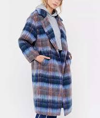 Love Life Claudia Hoffman Plaid long coat