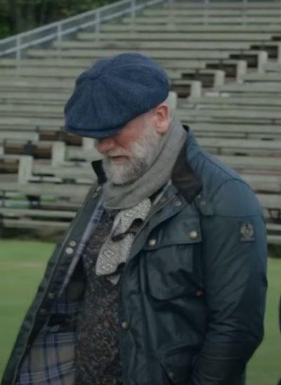 graham mctavish Green Leather Jacket