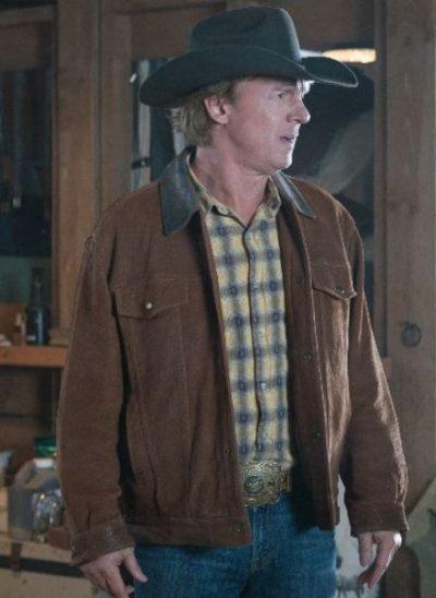 heartland chris potter brown leather jacket