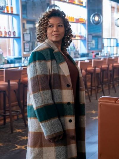 robyn mccall the equalizer queen latifah checked coat
