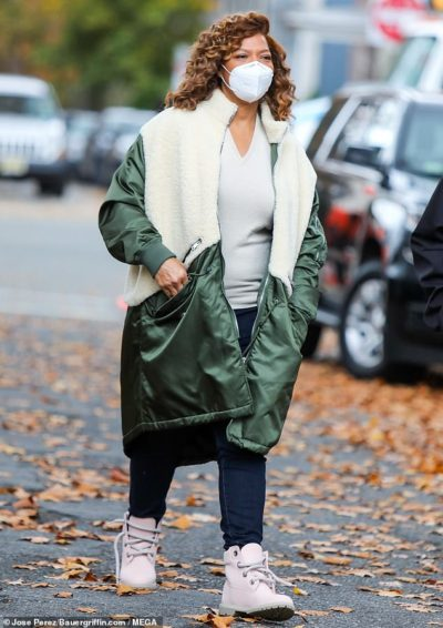 the equalizer 2021 robyn mccall green & white coat