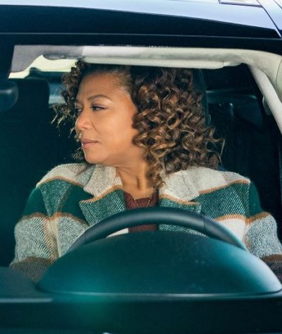 the equalizer queen latifah checked coat