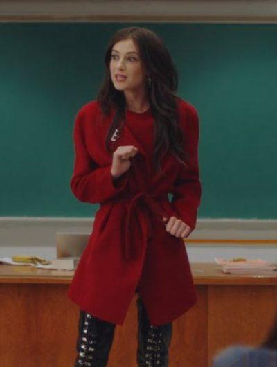 tiff bonding season 02 zoe levin red coat