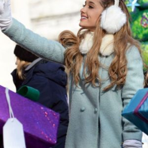 Ariana Grande Blue Trench Coat