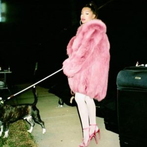 Ariana Grande Pink Fur Jacket