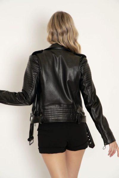 Black Moto Jacket for Women