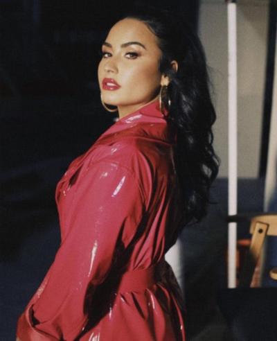 Demi Lovato I Love Me Red Coat