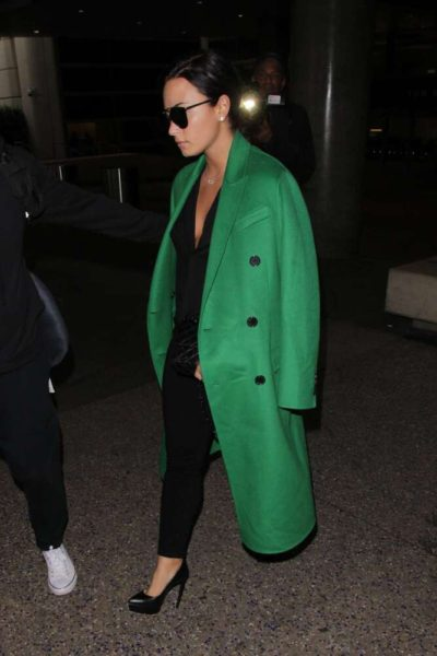 Demi Lovato Trench Coat