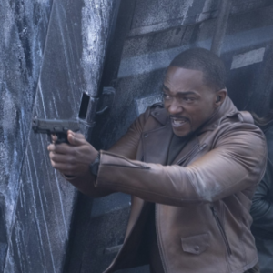 Falcon and Winter Soldier Anthony Mackie Brown Leather Jacket