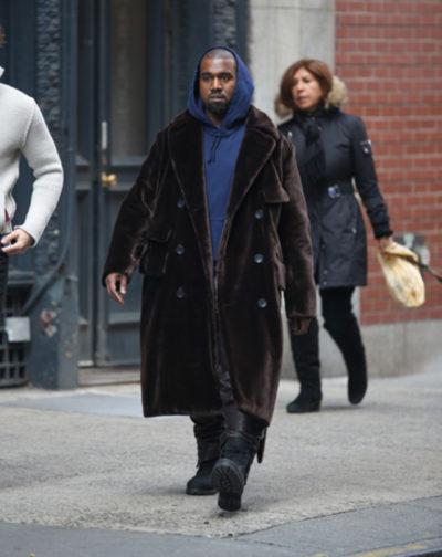 Kanye Velvet Long Coat