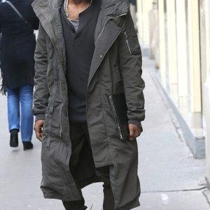 Kanye West Grey Long Coat