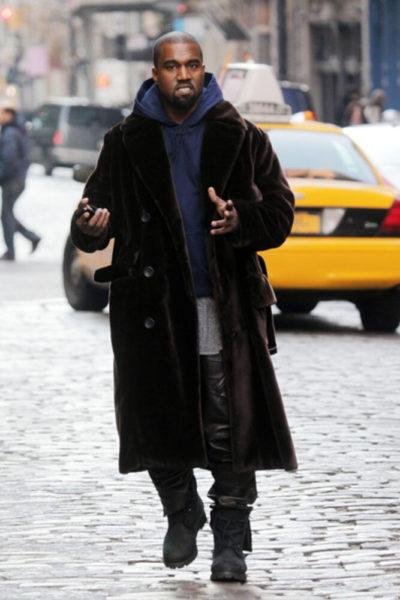 Kanye West Velvet Coat