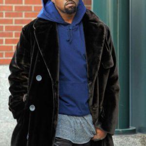 Kanye West Velvet Long Coat