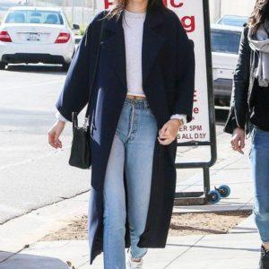 Kendall Jenner Blue Coat