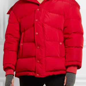 Kendall Jenner Red Puffer Jacket