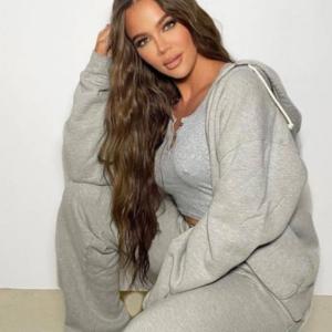 Khloe Kardashian Grey Hoodie