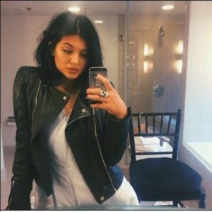 Kylie Jenner Black Bomber Jacket