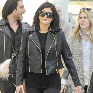 Kylie Jenner Black Leather Jacket