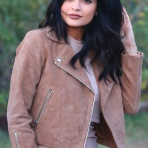 Kylie Jenner Brown Leather Jacket