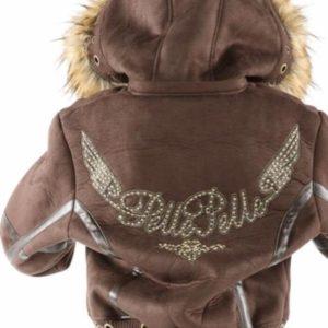 Ladies Pelle Pelle Wing Brown Hoodie