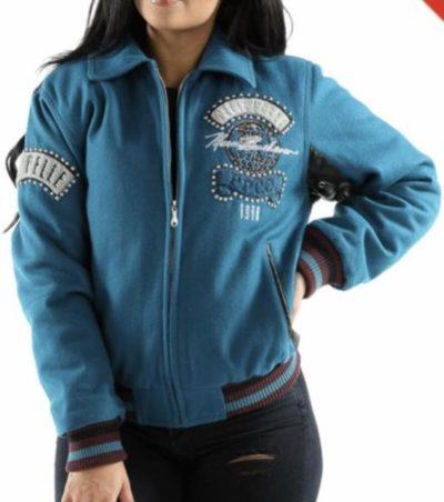 Ladies Pelle Pelle World Tour Bomber Blue Jacket