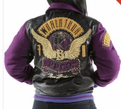 Ladies Pelle Pelle World Tour Purple Hoodie