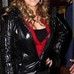 Mairah Carey Black Leather Jacket