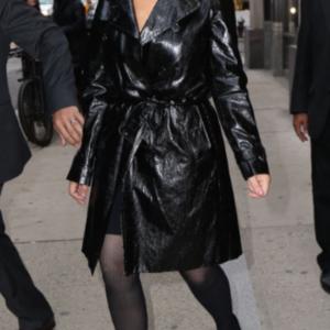 Mariah Carey Black Coat