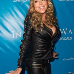 Mariah Carey Black Leather Jacket