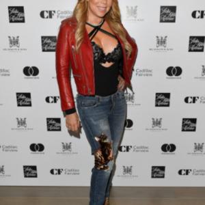Mariah Carey Red Jacket