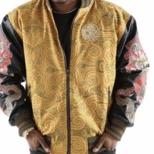 Mens Pelle Pelle Dragon Heart Wheat Jacket