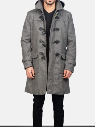 Men's Wool Grey Duffle Coat