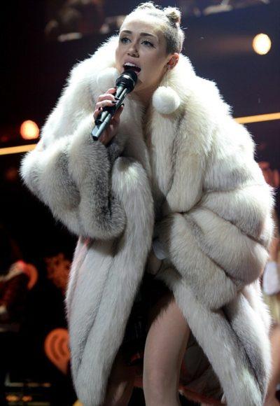 Miley Cyrus Fur Jacket