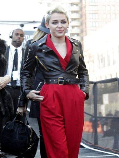Miley Cyrus Motorcycle Jacket
