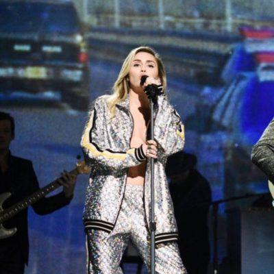Miley Cyrus Silver Jacket