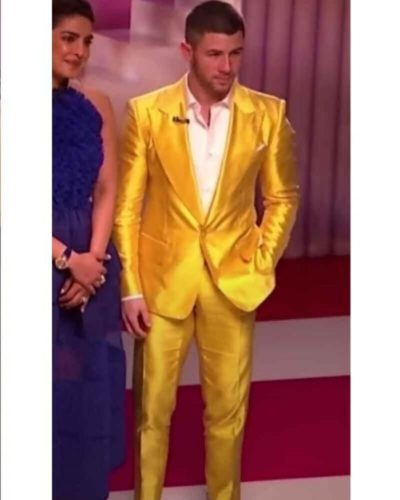 Nick Jonas Yellow Jacket
