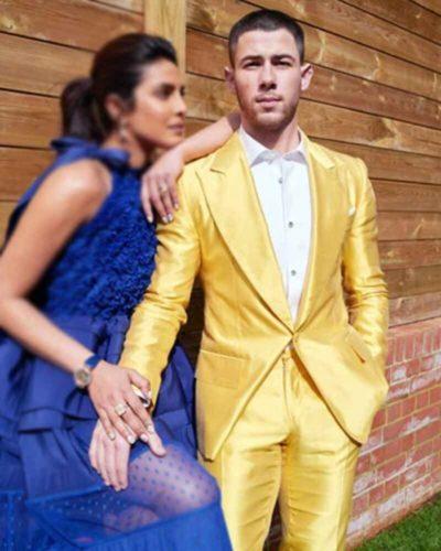 Nick Jonas Yellow Tuxedo Jacket