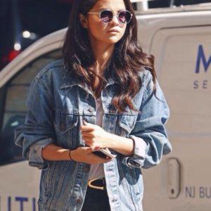 Selena Gomez Casual Denim Jacket