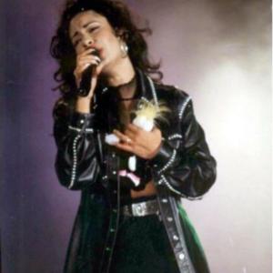 Selena Quintanilla Black Leather Coat