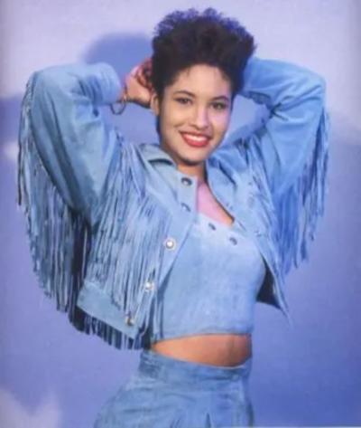 Selena Quintanilla Blue Fringe Jacket