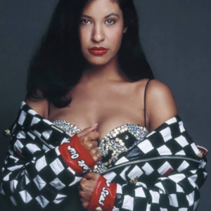 Selena Quintanilla Check Leather Jacket