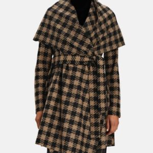 The Equalizer 2021 Melody Chu Houndstooth Coat